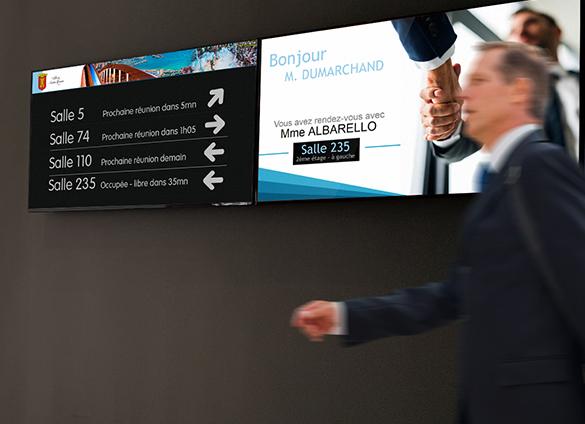 Ecran d'information et signalétique d'accueil